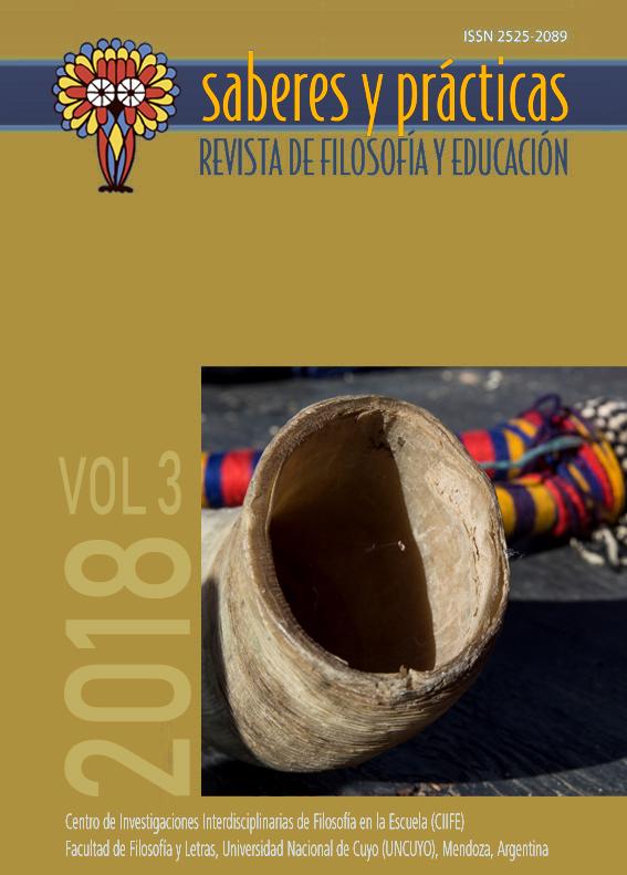 Saberes y prácticas. Revista de filosofía y educación. Volumen 3