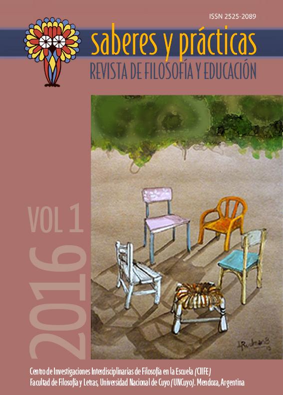 Saberes y prácticas. Revista de filosofía y educación. Volumen 1