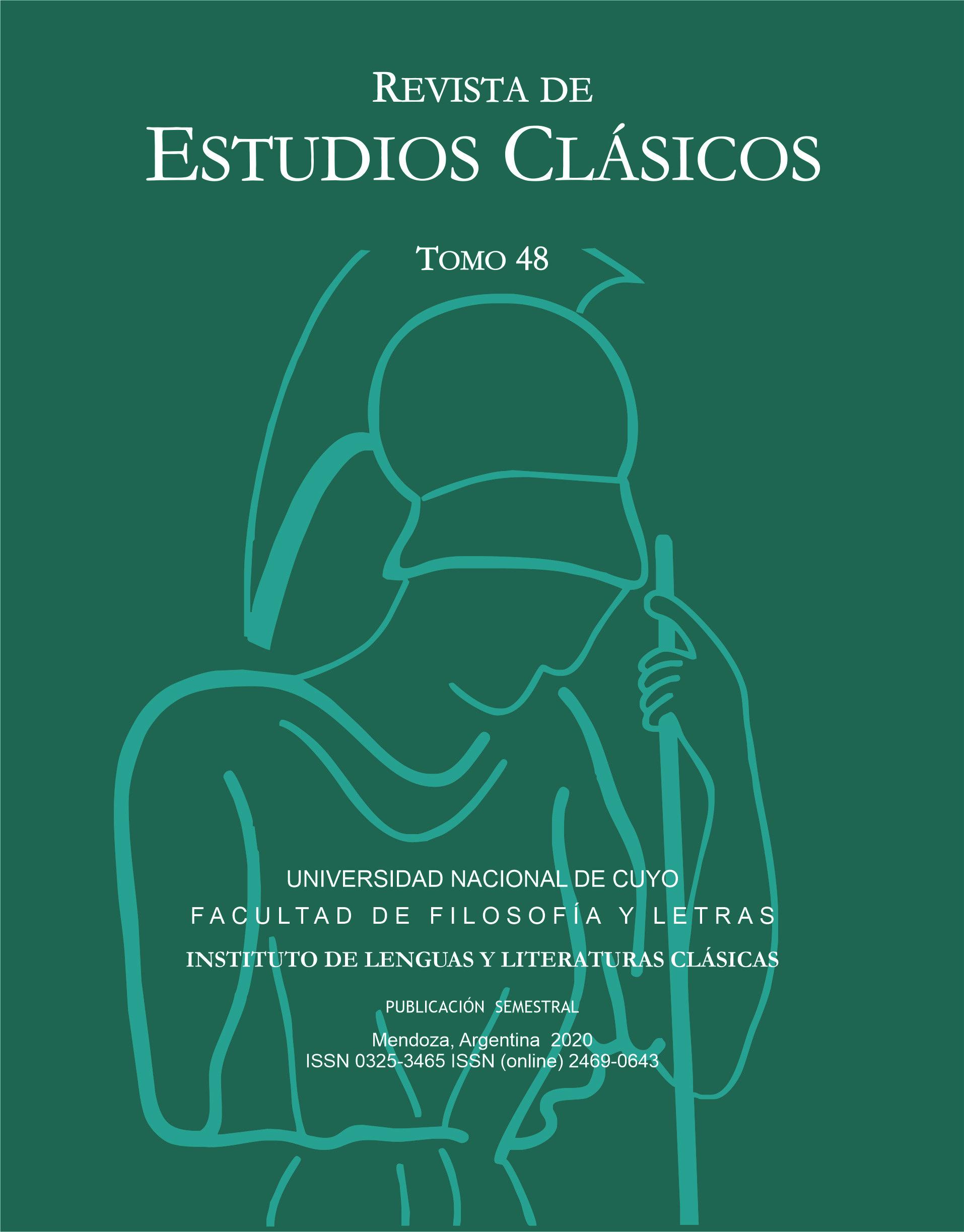 Tapa de la Revista de Estudios Clásicos, Tomo 48, 2020